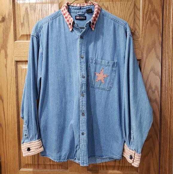 Cute custom made button down shirt!!